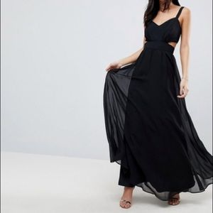 ASOS Side Cut Out Maxi Dress with Cami Straps